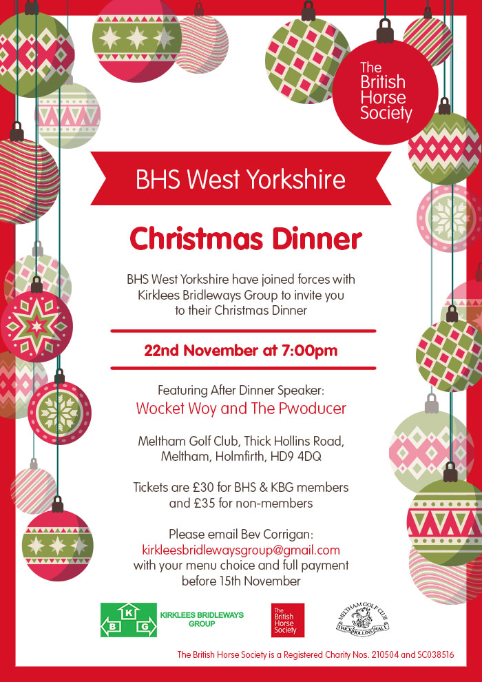 BHS West Yorkshire Christmas Dinner Poster
