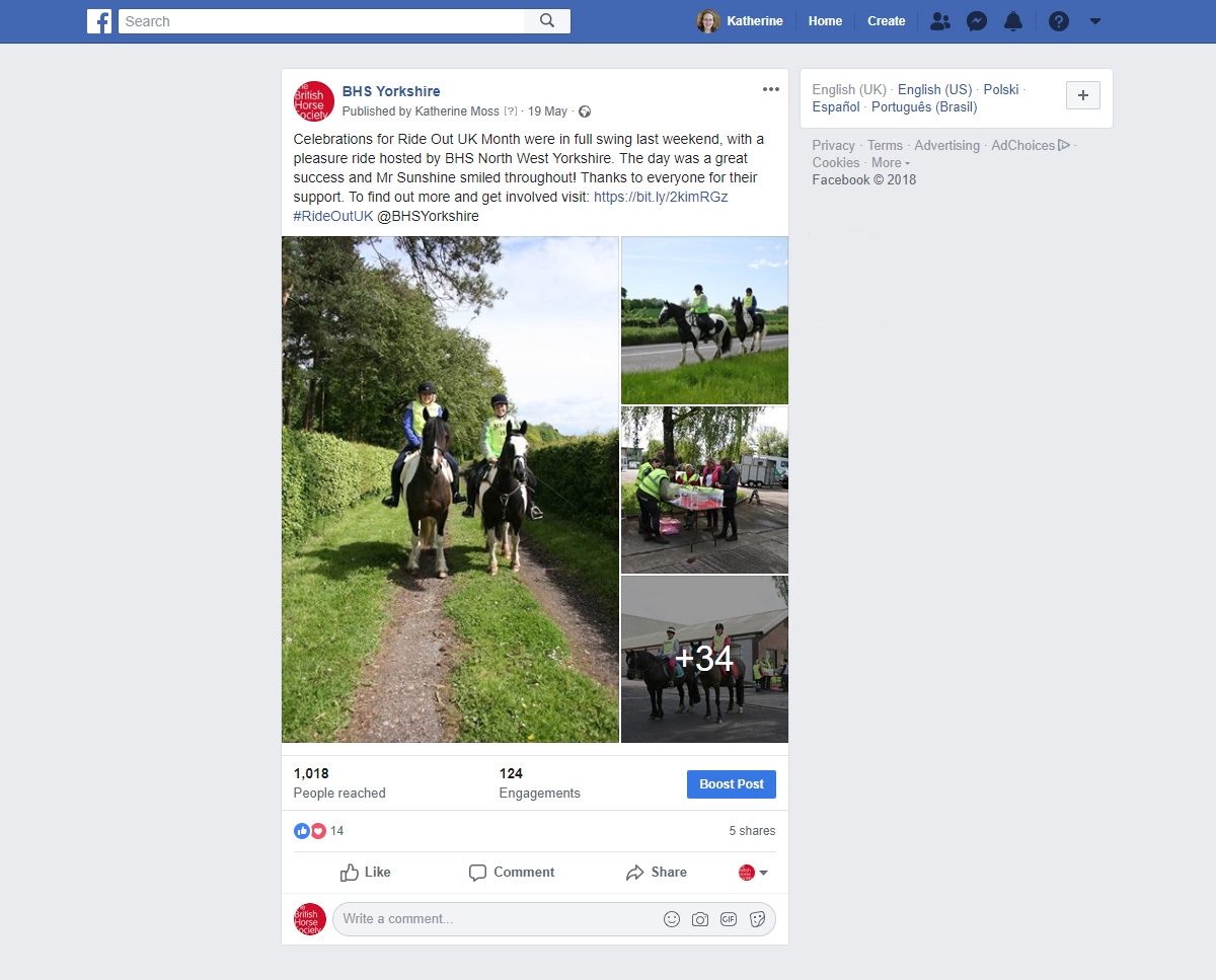 BHSWY Ride Out UK SMPost