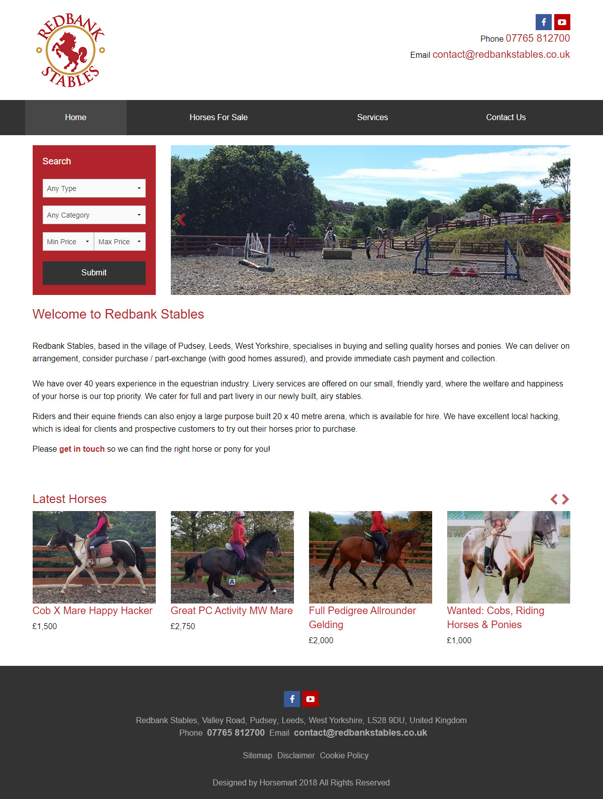 Redbank Stables Website
